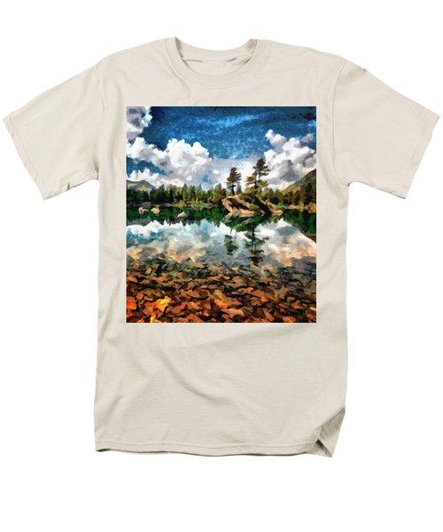 Lake Island View Men's T-Shirt  (Regular Fit) by Mario Carini