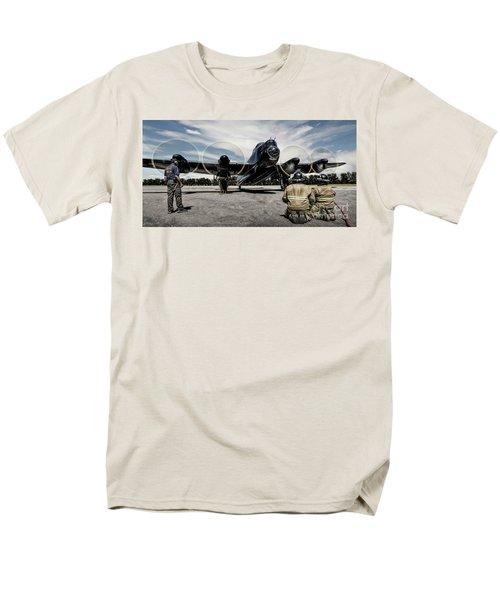 Men's T-Shirt  (Regular Fit) featuring the photograph Lancaster Engine Test by Brad Allen Fine Art