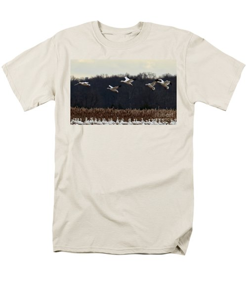 Men's T-Shirt  (Regular Fit) featuring the photograph Landing by Tamera James