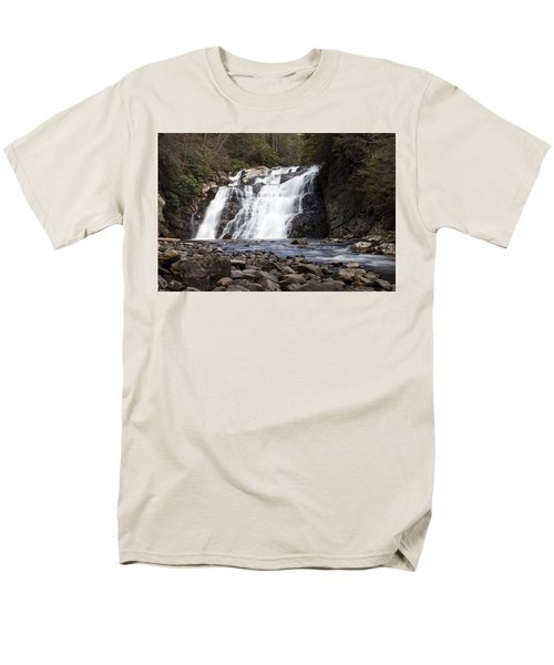 Men's T-Shirt  (Regular Fit) featuring the photograph Laurel Falls In Spring #1 by Jeff Severson