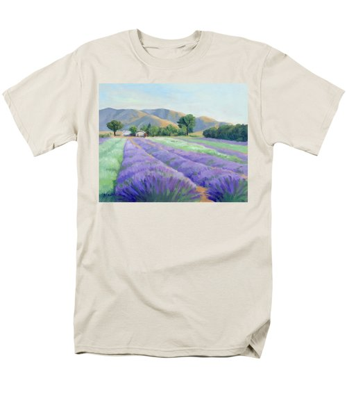 Men's T-Shirt  (Regular Fit) featuring the painting Lavender Lines by Sandy Fisher
