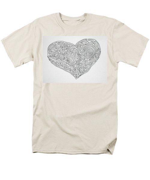 Laying Your Heart On A Line  Men's T-Shirt  (Regular Fit) by Vicki  Housel