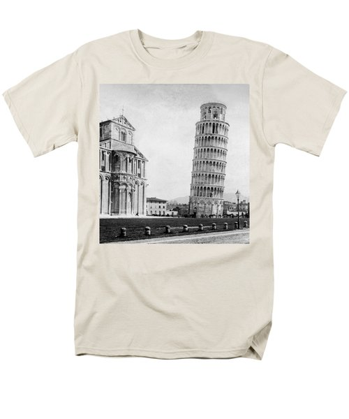 Leaning Tower Of Pisa Italy - C 1902  Men's T-Shirt  (Regular Fit) by International  Images