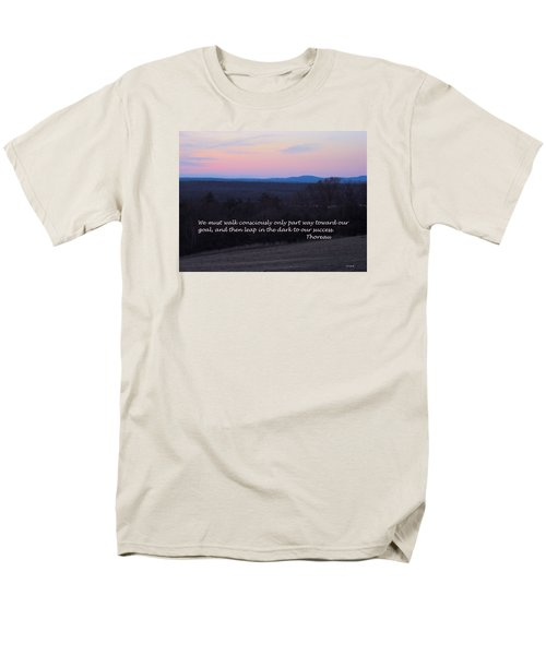 Leap In The Dark Men's T-Shirt  (Regular Fit) by Deborah Dendler