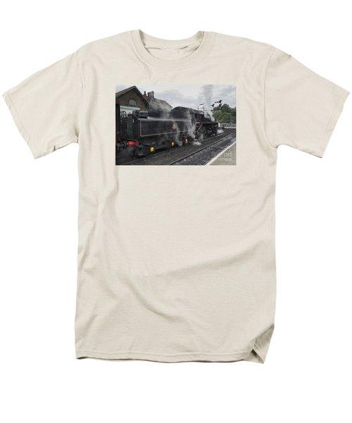 Leaving Grosmont Men's T-Shirt  (Regular Fit) by David  Hollingworth