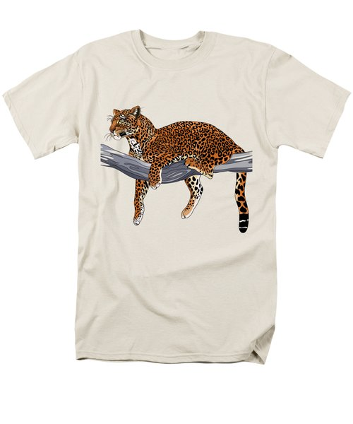 Leopard Men's T-Shirt  (Regular Fit) by Alexandra Panaiotidi