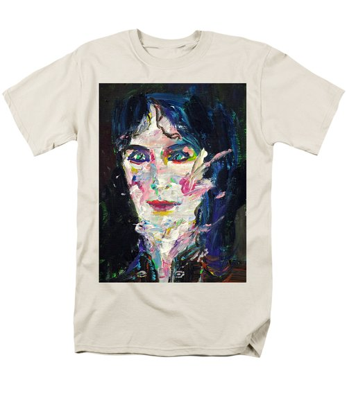 Men's T-Shirt  (Regular Fit) featuring the painting Let's Feel Alive by Fabrizio Cassetta