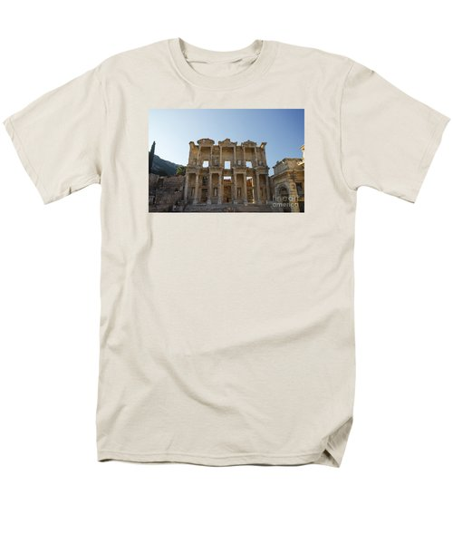 Men's T-Shirt  (Regular Fit) featuring the photograph Library Of Ephesus Or Celsus by Yuri Santin
