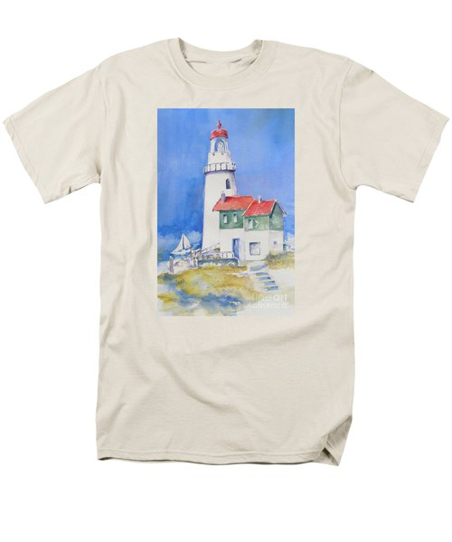 Lighthouse Men's T-Shirt  (Regular Fit) by Mary Haley-Rocks