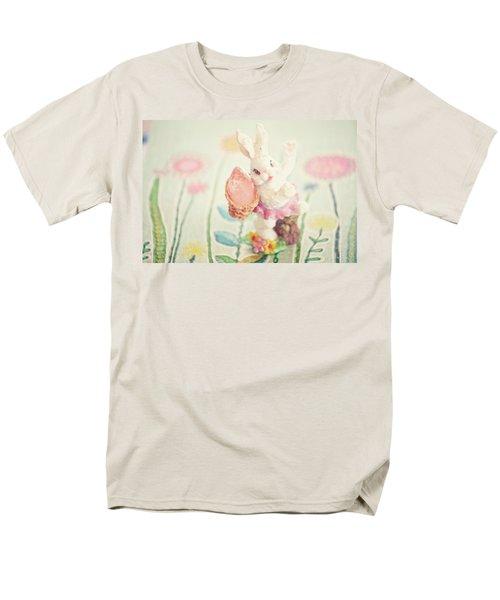 Little Bunny In The Garden Men's T-Shirt  (Regular Fit) by Toni Hopper