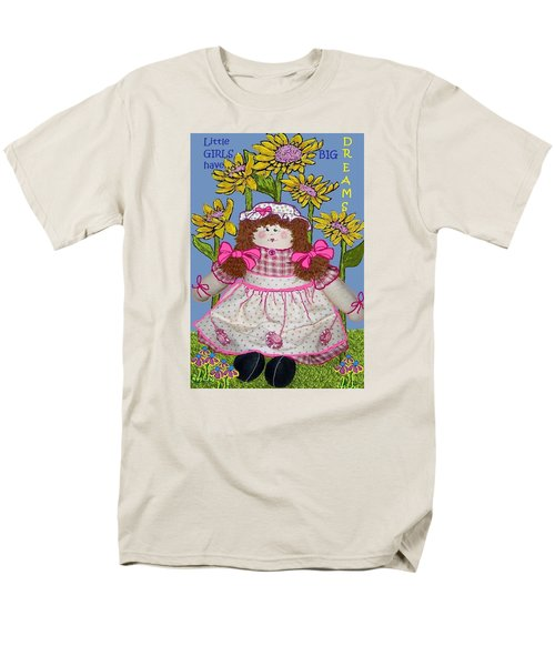 Little Girls Have Big Dreams Men's T-Shirt  (Regular Fit) by Suzanne Theis
