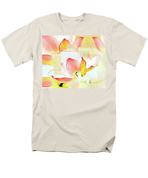 Men's T-Shirt  (Regular Fit) featuring the photograph Live N Love - Absf44b by Variance Collections
