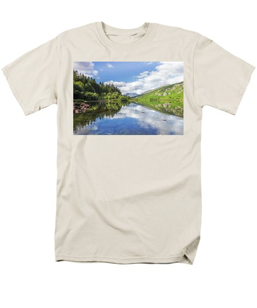 Llyn Mymbyr And Snowdon Men's T-Shirt  (Regular Fit) by Ian Mitchell
