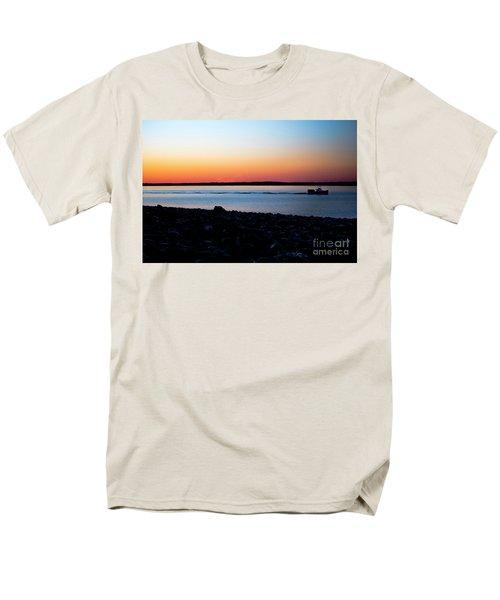 Lobster Boat In Maine Men's T-Shirt  (Regular Fit) by Diane Diederich