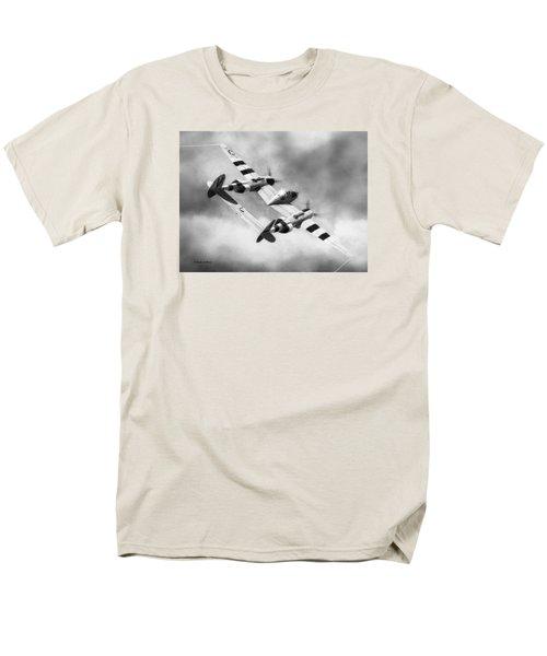 Lockheed P-38l Lightning Drawing Men's T-Shirt  (Regular Fit) by Douglas Castleman