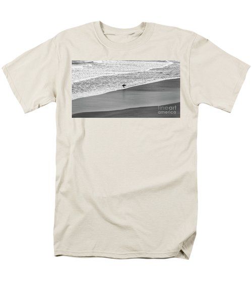 Men's T-Shirt  (Regular Fit) featuring the photograph Lone Surfer by Nicholas Burningham