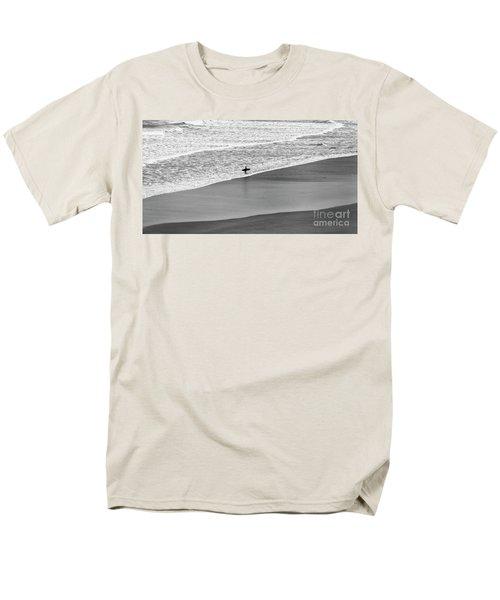 Lone Surfer Men's T-Shirt  (Regular Fit) by Nicholas Burningham
