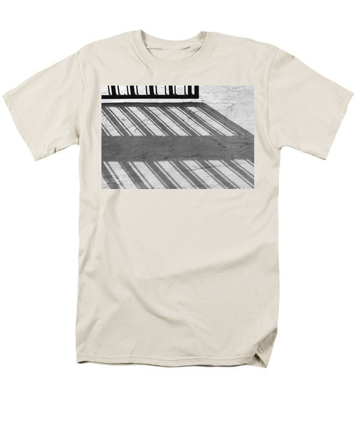 Long Shadow Of Metal Gate Men's T-Shirt  (Regular Fit) by Prakash Ghai