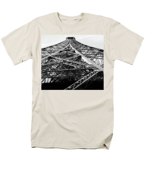 Men's T-Shirt  (Regular Fit) featuring the photograph Looking Up From The Eiffel Tower by Darlene Berger
