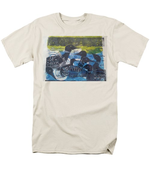 Loon, I See Men's T-Shirt  (Regular Fit) by Cynthia Lagoudakis