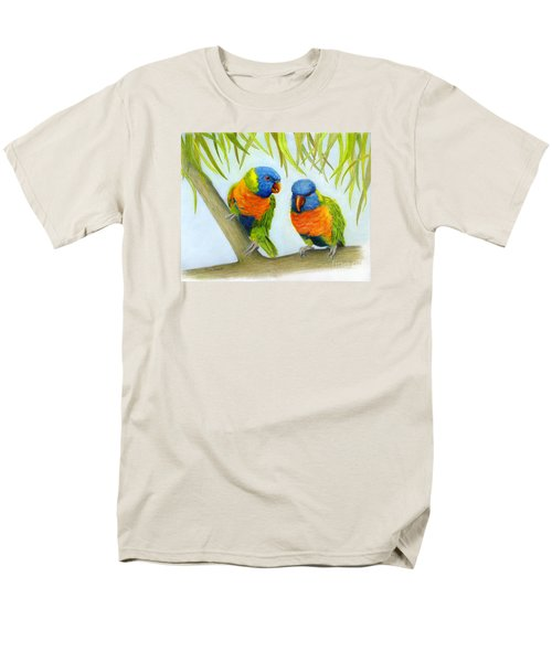 Lorikeet Pair Men's T-Shirt  (Regular Fit) by Phyllis Howard