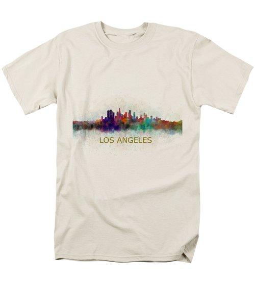 Los Angeles City Skyline Hq V4 Men's T-Shirt  (Regular Fit) by HQ Photo