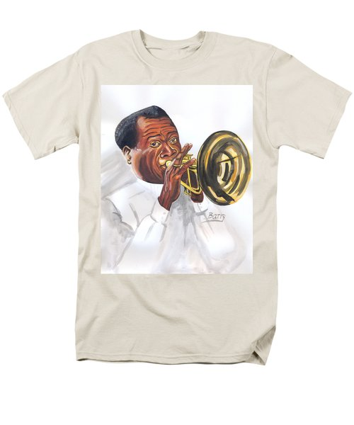 Men's T-Shirt  (Regular Fit) featuring the painting Louis Armstrong by Emmanuel Baliyanga