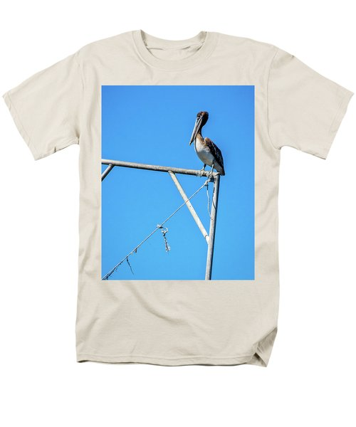 Louisiana's State Bird Men's T-Shirt  (Regular Fit) by Andy Crawford