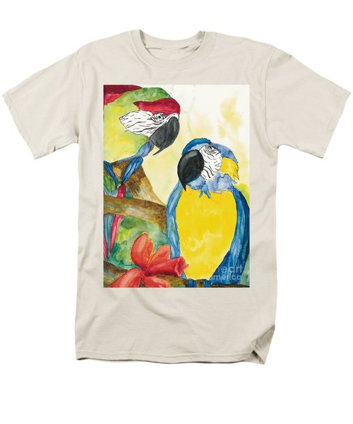 Men's T-Shirt  (Regular Fit) featuring the painting Love Birds by Vicki  Housel