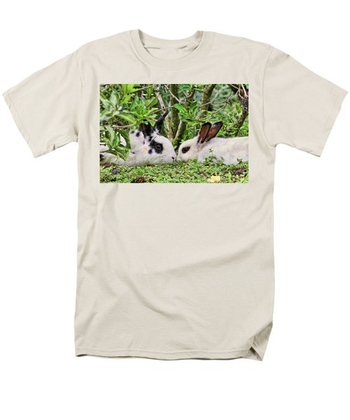 Love Bunnies In Costa Rica Men's T-Shirt  (Regular Fit) by Peggy Collins