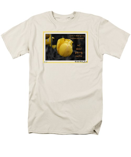 Men's T-Shirt  (Regular Fit) featuring the digital art Love Is About Giving by Holley Jacobs