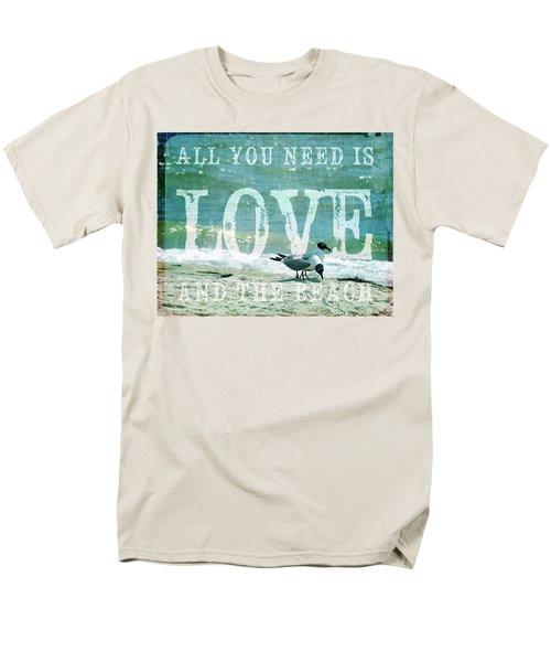 Love The Beach Men's T-Shirt  (Regular Fit)