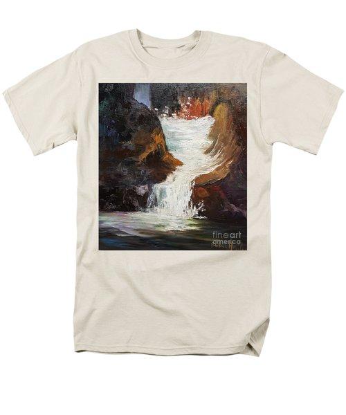 Lower Chasm Waterfall Men's T-Shirt  (Regular Fit)