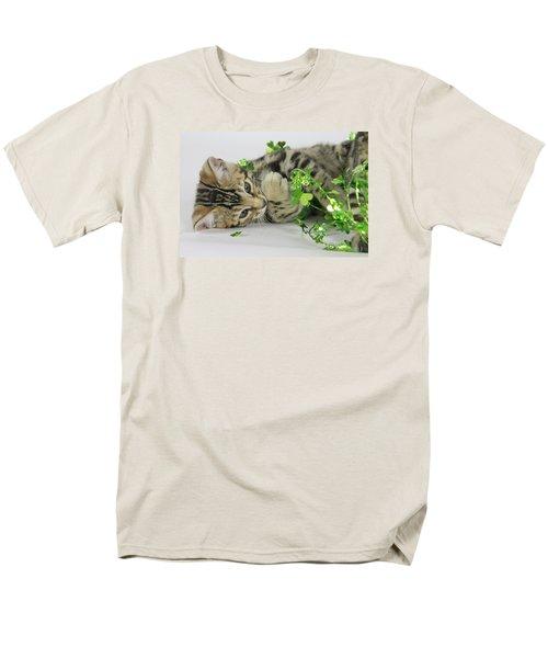 Lucky Kitten Men's T-Shirt  (Regular Fit) by Shoal Hollingsworth