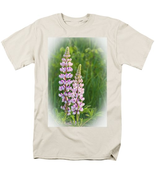 Men's T-Shirt  (Regular Fit) featuring the photograph Lupine Pair by Paul Miller