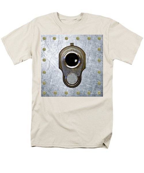 M1911 45 Framed With 45 Case Heads Men's T-Shirt  (Regular Fit) by M L C
