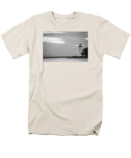 Madisonville Lighthouse In Black-and-white 2 Men's T-Shirt  (Regular Fit)
