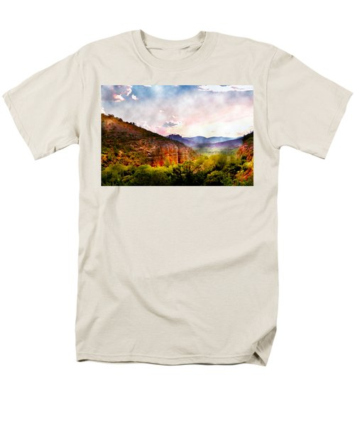 Magical Sedona Men's T-Shirt  (Regular Fit) by Ellen Heaverlo