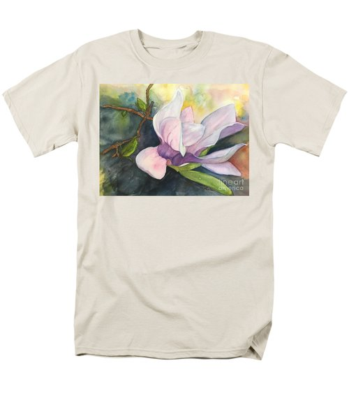 Men's T-Shirt  (Regular Fit) featuring the painting Magnificent Magnolia by Lucia Grilletto