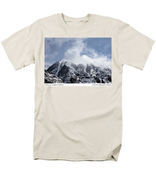 Magnificent Mountains In Telluride In Colorado Men's T-Shirt  (Regular Fit) by Carol M Highsmith