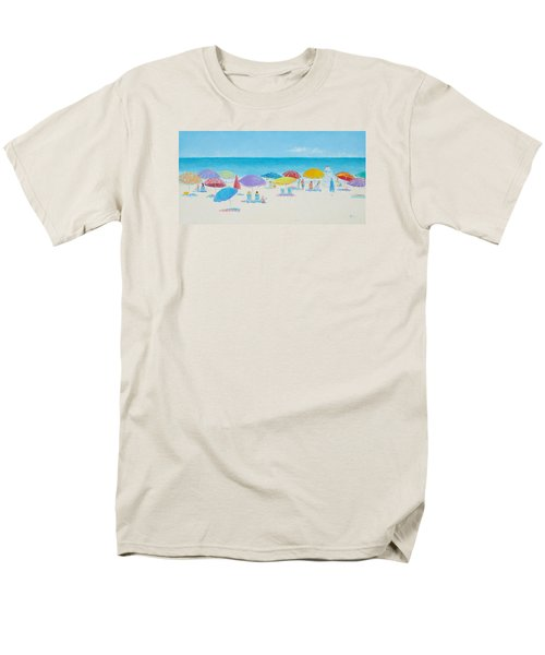 Main Beach East Hampton  Men's T-Shirt  (Regular Fit) by Jan Matson