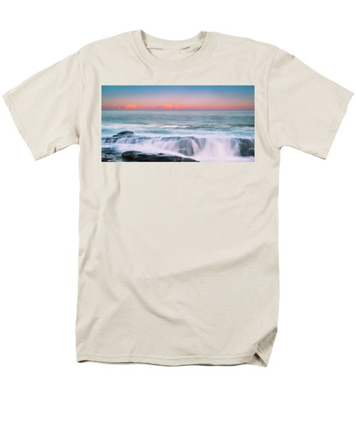 Maine Rocky Coastal Sunset Panorama Men's T-Shirt  (Regular Fit) by Ranjay Mitra