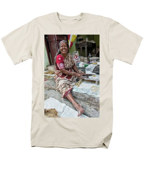 Making Chapatti Men's T-Shirt  (Regular Fit) by Marion Galt