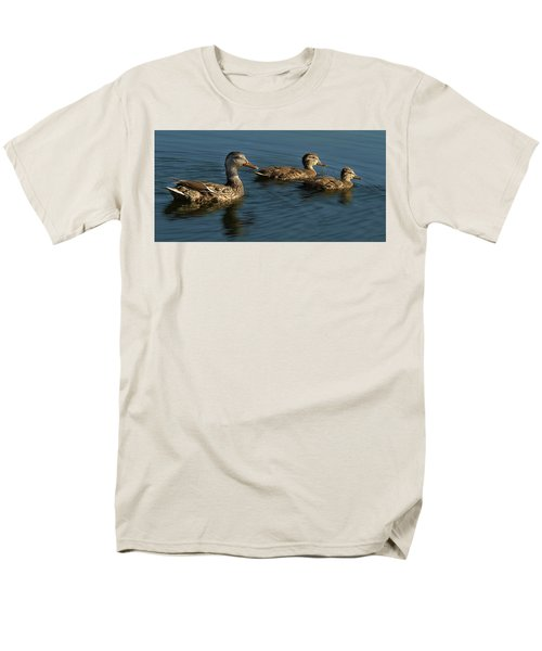 Men's T-Shirt  (Regular Fit) featuring the photograph Mallard Family Outing by Jean Noren