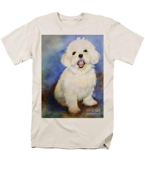 Men's T-Shirt  (Regular Fit) featuring the painting Maltese Named Ben by Marilyn Jacobson
