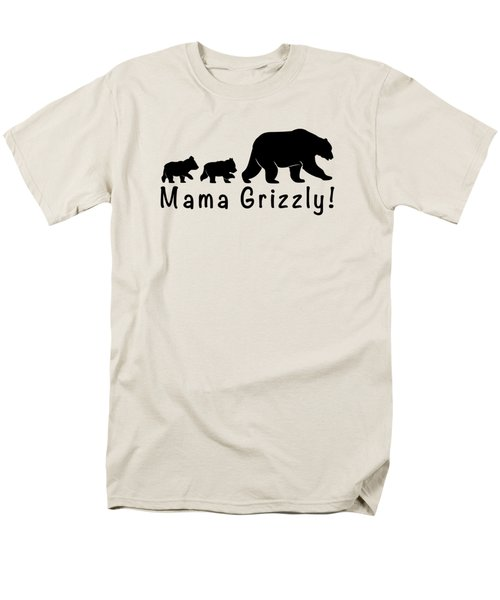 Mama Grizzly And Cubs Men's T-Shirt  (Regular Fit) by A C