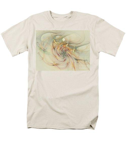Marble Spiral Colors Men's T-Shirt  (Regular Fit) by Deborah Benoit