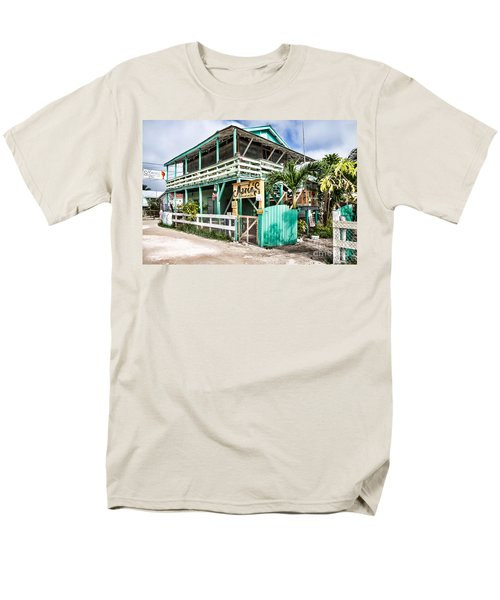 Men's T-Shirt  (Regular Fit) featuring the photograph Marin's On Caye Caulker by Lawrence Burry