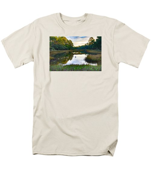 Men's T-Shirt  (Regular Fit) featuring the photograph Marsh In The Morning by Patricia Schaefer