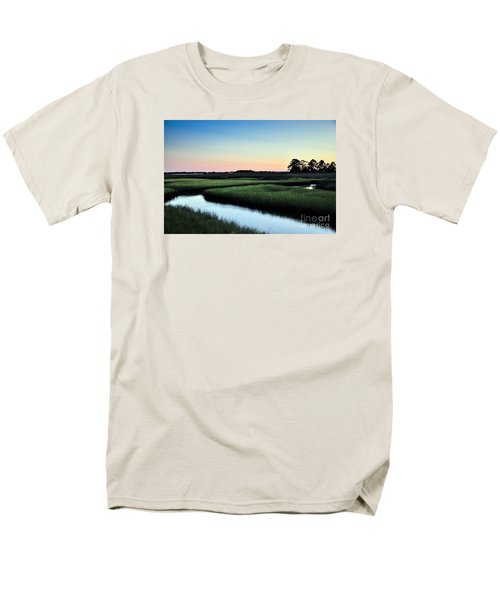 Marsh Sunset Men's T-Shirt  (Regular Fit) by Debbie Green
